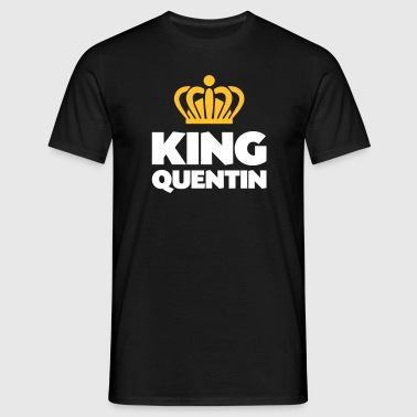 King quentin name thing crown - Men's T-Shirt