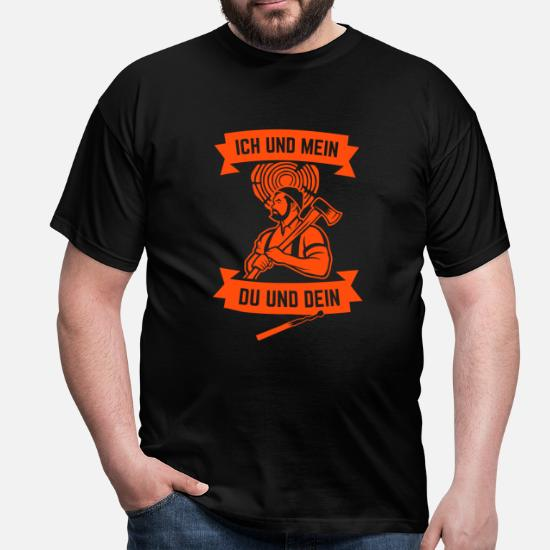 Holz-Shirt/Holzfäller/Kettensäge/Axt/Pullover/Jacke Ich muss jetzt Holz Machen Zip-Hoodie L-Schwarz