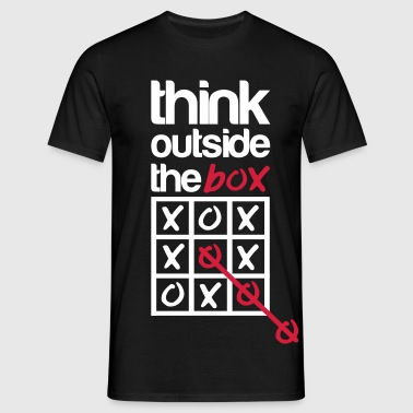 Think outside the box - Mannen T-shirt