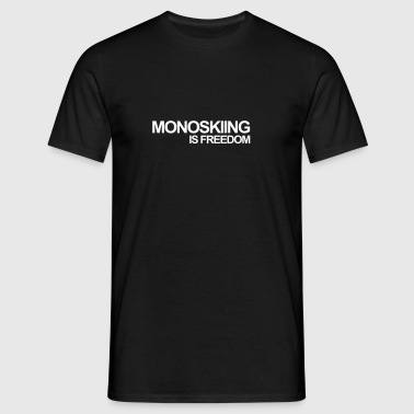MONOSKI, MONO SKIING, WATER, WATER, SKI - Men's T-Shirt