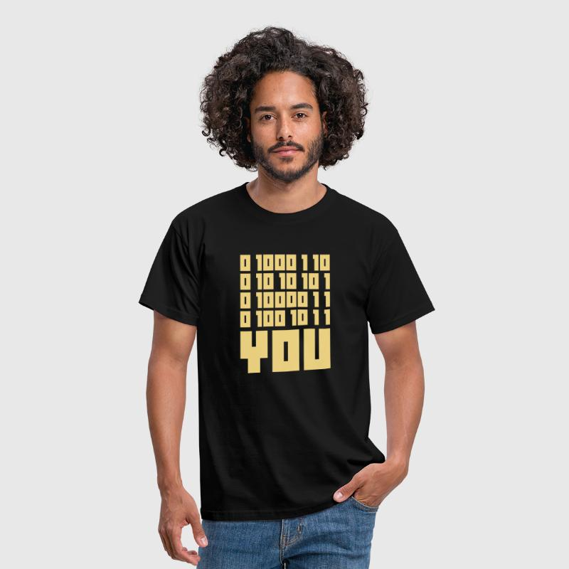 FUCK YOU - Binary code - Herre-T-shirt
