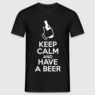 keep calm and have a beer - Miesten t-paita