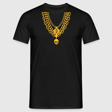gold chain necklace - Men's T-Shirt