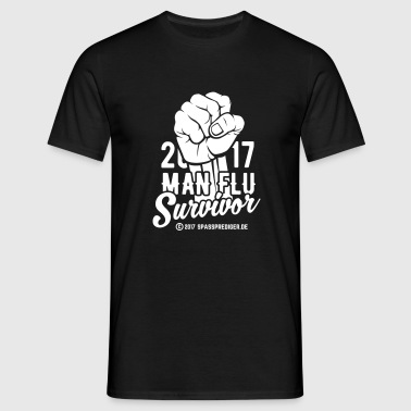 2017 Man Flu Survivor  - Männer T-Shirt