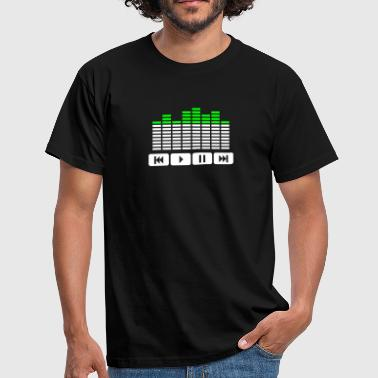 Equalizer audio player dj - T-shirt herr