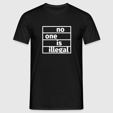 No One is Illegal - Koszulka męska