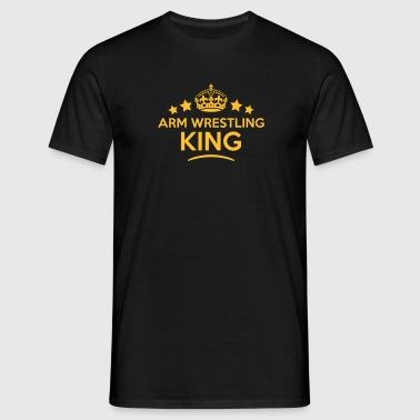 arm wrestling king keep calm style crown - Men's T-Shirt