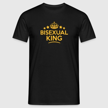 bisexual king keep calm style crown star - T-skjorte for menn