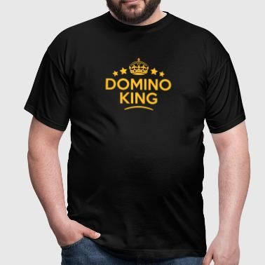 domino king keep calm style crown stars - Men's T-Shirt