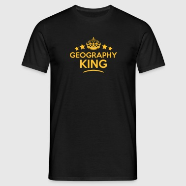 geography king keep calm style crown sta - Männer T-Shirt
