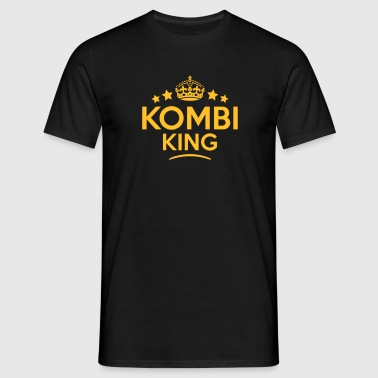 kombi king keep calm style crown stars - T-skjorte for menn