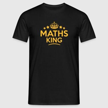 maths king keep calm style crown stars - Camiseta hombre