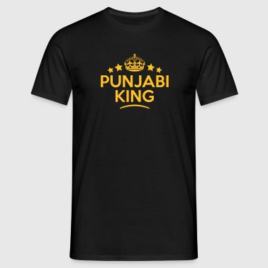 punjabi king keep calm style crown stars - Men's T-Shirt