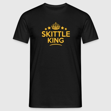 skittle king keep calm style crown stars - T-skjorte for menn