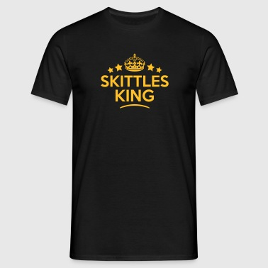 skittles king keep calm style crown star - T-skjorte for menn