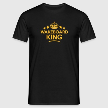 wakeboard king keep calm style crown sta - T-skjorte for menn
