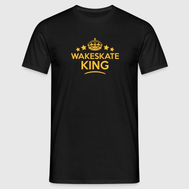 wakeskate king keep calm style crown sta - T-shirt herr