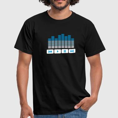 Equalizer DJ music player - Männer T-Shirt