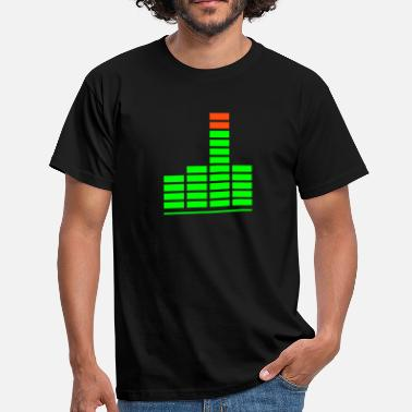 Meter music finger - Mannen T-shirt
