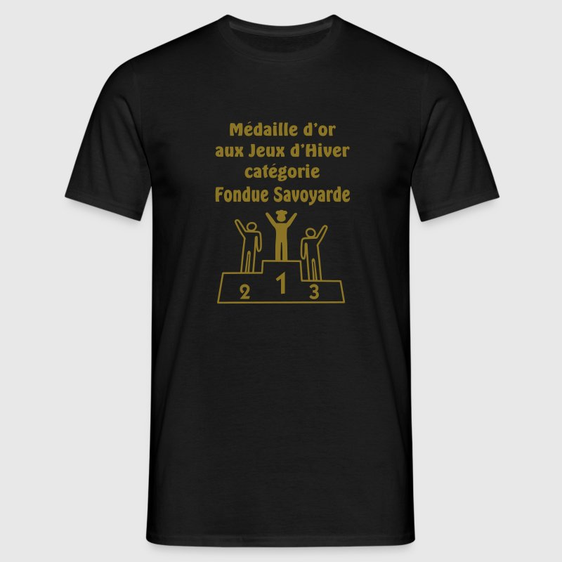 medaille d' or fondue savoyarde (au fromage) - T-shirt Homme