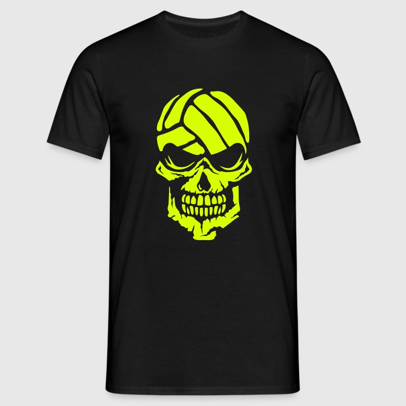 Volleyball skull water polo logo 3 - Men's T-Shirt