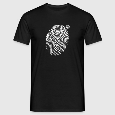 Fingerprint Copyright - Mannen T-shirt