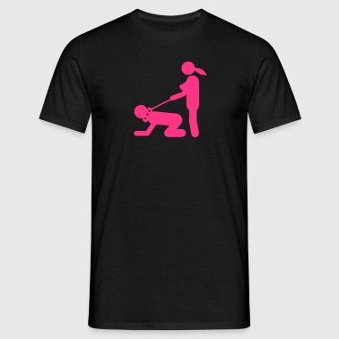 Sex position dominates slave 1 - Men's T-Shirt