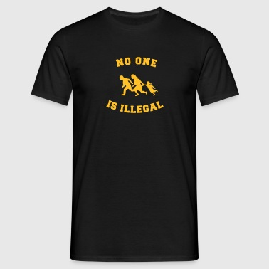 no one is illegal - Camiseta hombre