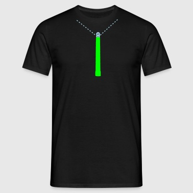 Glowstick On A Chain - Men's T-Shirt