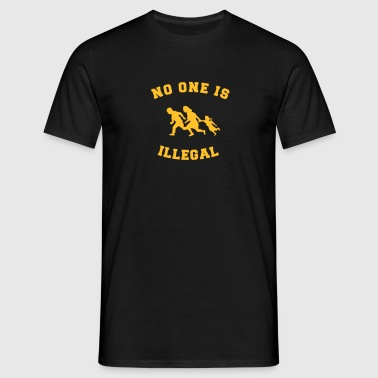 no one is illegal - Men's T-Shirt