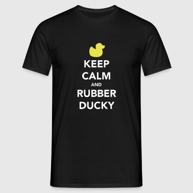Keep Calm and Rubber Ducky - Koszulka męska