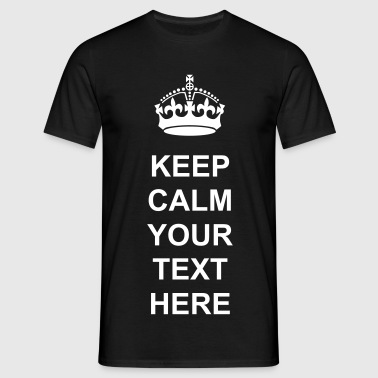 keep_calm_crown vector - Men's T-Shirt