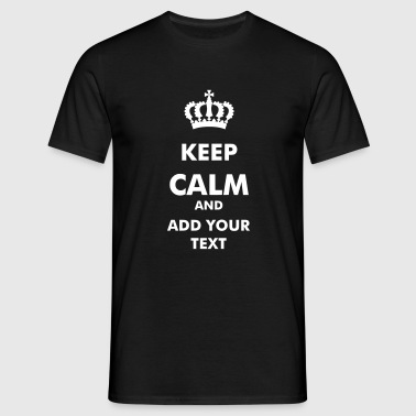 Keep Calm_V1  - Mannen T-shirt