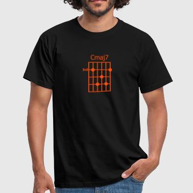 Chords Chord diagram Cmaj7 - Männer T-Shirt