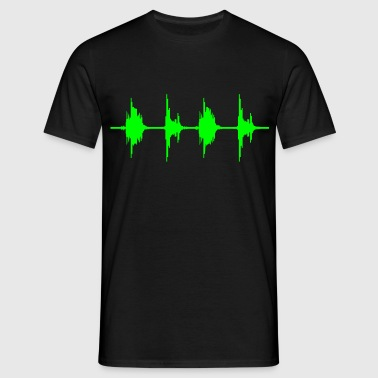 BASS BOX WAVE - Männer T-Shirt