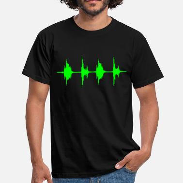 Dj BASS BOX WAVE - Männer T-Shirt