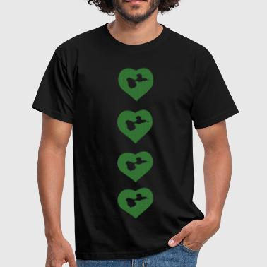 heart love Guadeloupe - T-shirt Homme