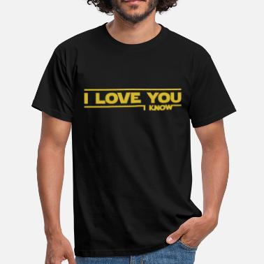 Stars I love you I know (Star Wars) - T-shirt Homme