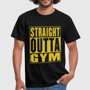 Bodybuilding Logo Gym Straight Outta Gym - Maglietta da uomo