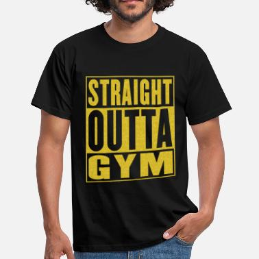 Hood Beast Straight Outta Gym - Men's T-Shirt