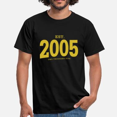 Papst EST. 2005 Two Thousand Five - Männer T-Shirt