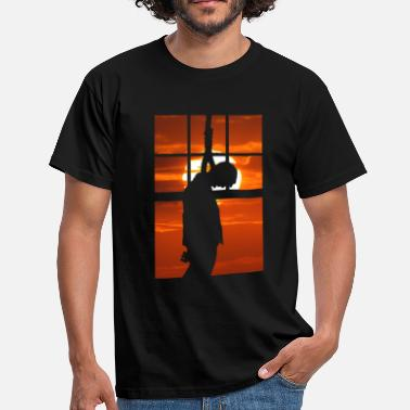 Viro Hang Man - Hanged ĉe sunsubiro - Camiseta hombre