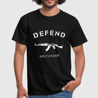 Defend Amsterdam Basic Tee - Mannen T-shirt
