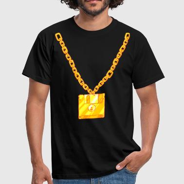 Old School Floppy Disk Chain - Men's T-Shirt