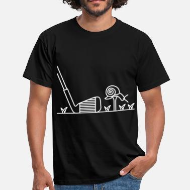 golf escargot drôle.svg - T-shirt Homme