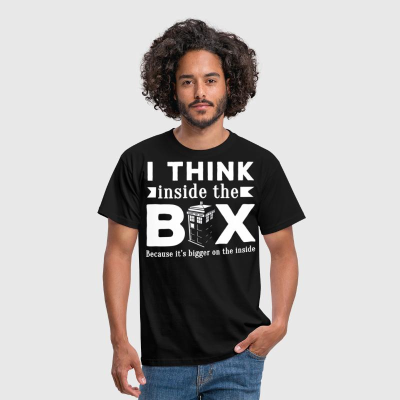 Doctor Who I think inside the box - Men's T-Shirt