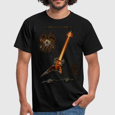 Guitar Player Black Metal Guitar 4 - T-shirt Homme