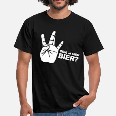 Gangster Quote 3 of 4 bier? - Mannen T-shirt