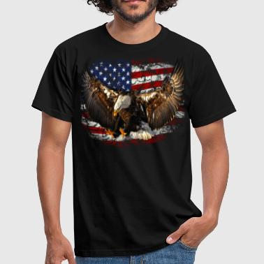 eagle USA Flag Adler freedom - Männer T-Shirt