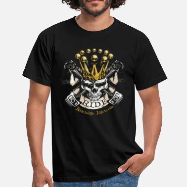 Piston Skull ride - T-shirt Homme